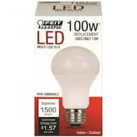 Feit Electric A1600/827/10KLED Non-Dimmable LED Bulb, 13 Watts, 120 Volts