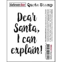 """Darkroom Door Quote Cling Stamp 3""""X2""""-Dear Santa"""