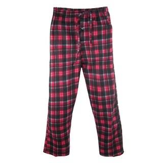 tru fit Men's Plaid Plush Pajama Lounge Pants