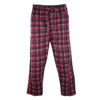 tru fit Men's Plaid Plush Pajama Lounge Pants