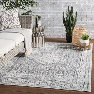 Link to The Gray Barn Jennifer Medallion Blue Indoor/ Outdoor Area Rug Similar Items in As Is