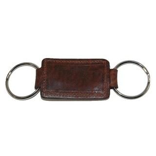 Boston Leather Leather Valet Key Fob (Option: Brown)