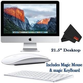 Apple iMac MK442LL/A 21.5-Inch Desktop 2.8GHz 8GB RAM 1TB HDD + Mac Essentials Lifetime Online Support Bundle