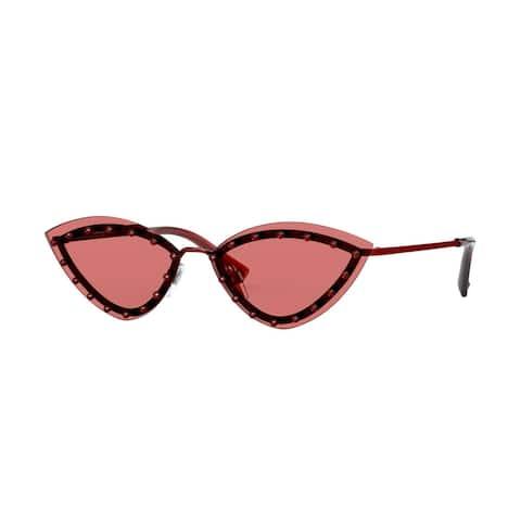 Valentino VA2033 305484 62 Red Woman Cat Eye Sunglasses