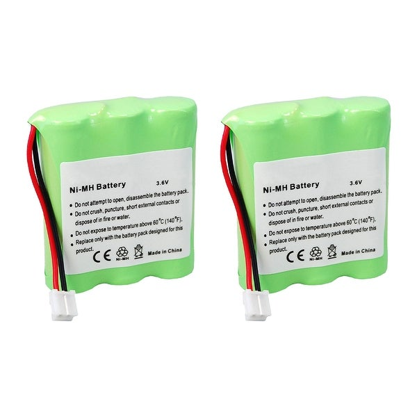 Replacement For GE/RCA 5-2548 Cordless Phone Battery (900mAh, 3.6V, Ni-Cd) - 2 Pack