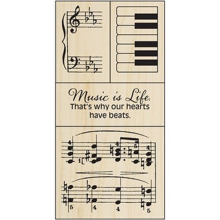 "Stampendous Mounted Stamp 2.5""X5.75""-Music Set"