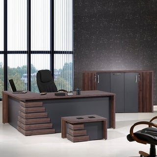 "Link to Atlas 71"" 3 Piece L-Shaped Desk Office Furniture Set Similar Items in Desks & Computer Tables"