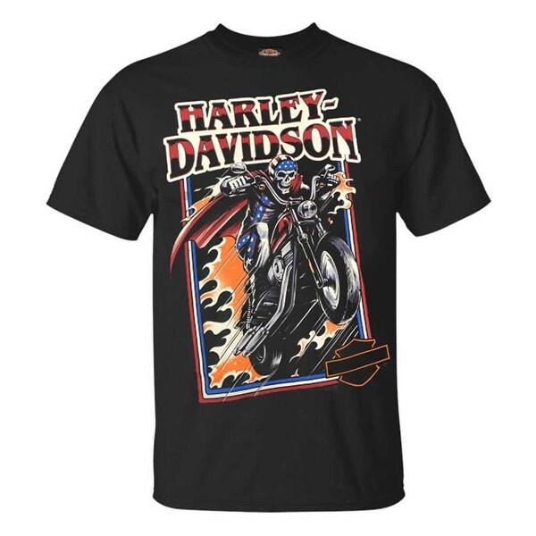 Harley-Davidson Men/'s Skull /& Goggles Crew Short Sleeve Tee Solid Black