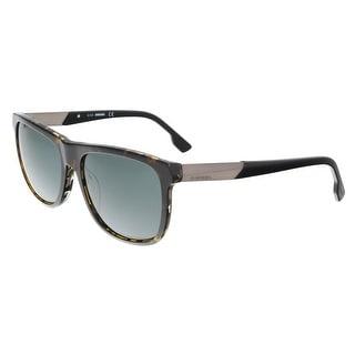 Diesel DL0187 56N Dark Havana Square Sunglasses - dark havana
