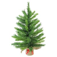 "24"" Mixed Kateson Fir Artificial Christmas Tree in Burlap Base - Unlit - green"