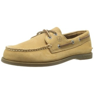 Sperry Top Slider Tan Leather Original Boat Shoe - 4.5 m us big kid