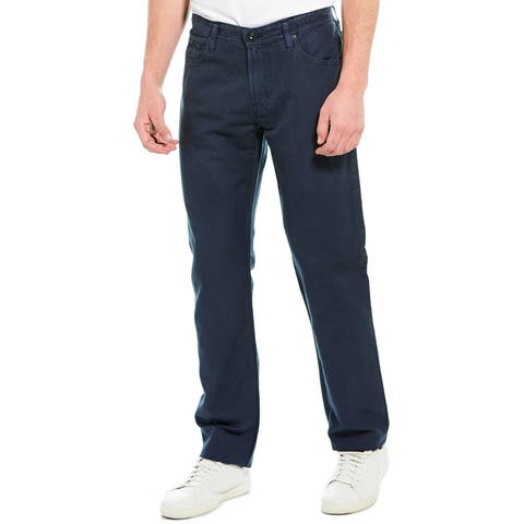 Ag Jeans The Graduate Sulfur Nightshade Linen-Blend Tailored Leg