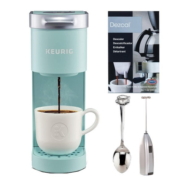 Keurig K-Mini Single Serve Coffee Maker with Descaling Powder Bundle. Opens flyout.