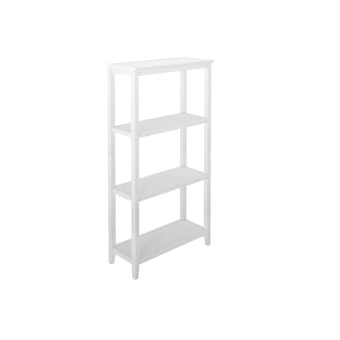 """60.5"""" White Solid 3-Tier Tall Vertical Bookcase"""