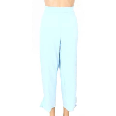 Alfani Womens Cropped Pants Oasis Plus Side Tie-Cuff