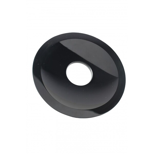Replacement Waterfall Faucet Black Glass Disc Tray Plate  | Renovator's Supply