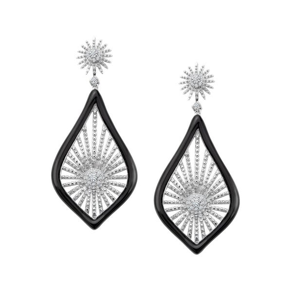 Cristina Sabatini Morning Star Earrings with Cubic Zirconia in Sterling Silver