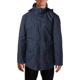 Tommy Hilfiger Mens Hooded Front Button Pockets Anorak Jacket