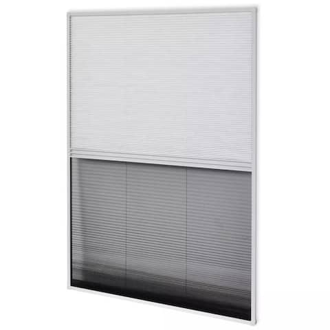 """vidaXL Plisse Insect Screen for Window Aluminum 31.5""""x39.4"""" with Shade"""