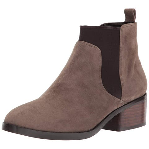 Cole Haan Womens Osteen Bootie 2 Suede Closed Toe Ankle Chelsea Boots