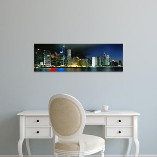 Easy Art Prints Panoramic Images's 'View From Wanchai, Central District, Hong Kong' Premium Canvas Art