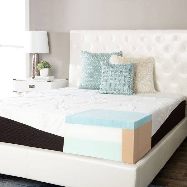 ComforPedic from Beautyrest Choose Your Comfort 12-inch Gel Memory Foam Mattress - White. Opens flyout.