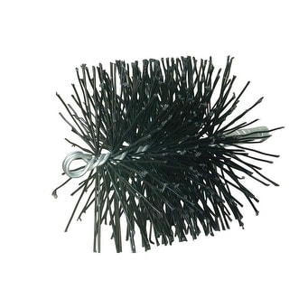 """Rutland Chimney Sweep 16906 Round Poly Cleaning Brush, 6"""""""" D, Black"""""""