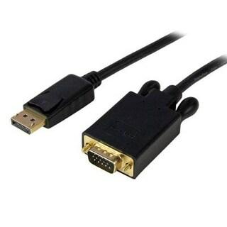 Startech.Com Dp2vgamm3b 3-Feet Active Displayport To Vga Converter Cable For Pc 1920X1200 - Black
