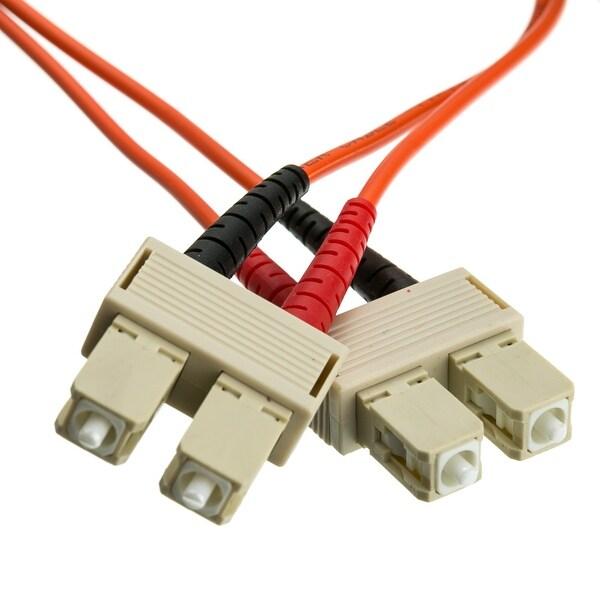 Offex Fiber Optic Cable, SC / SC, Multimode, Duplex, 62.5/125, 5 meter (16.5 foot)