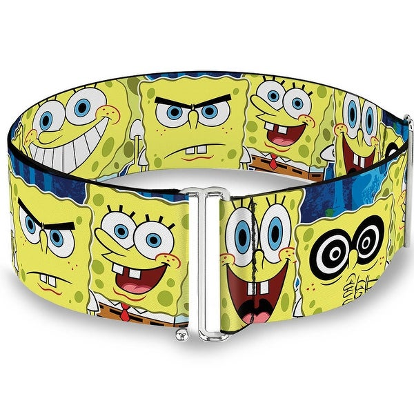 SpongeBob Expressions Stripe Blue Cinch Waist Belt ONE SIZE