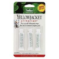 Safer 02006 Liquid Yellow Jacket and Wasp Trap, 0.5 Oz, 3/Pack