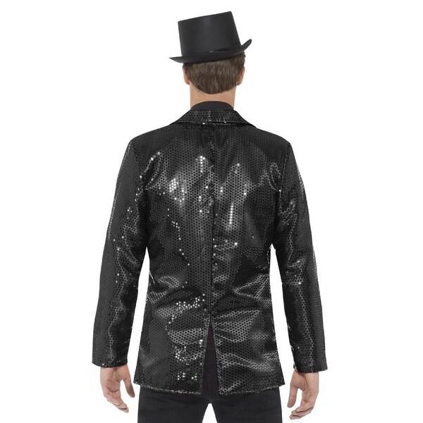 Rubies Costume Deluxe Mens Black Sequin Jacket