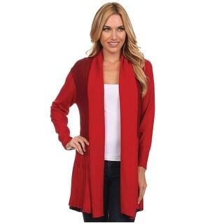 Women's Cardigan - Redstone Fan-Knit Long Sleeve Sweater