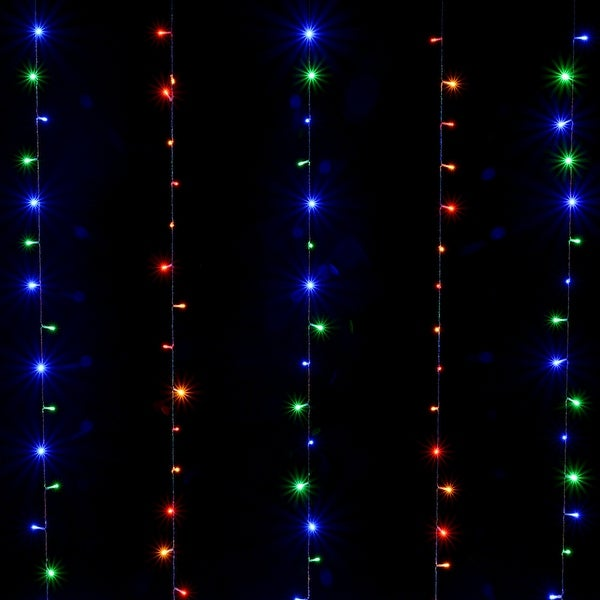 300 LED Waterproof Curtains Light 2-way Operated Solar/Power Controller w/ 8 Model Multi-color