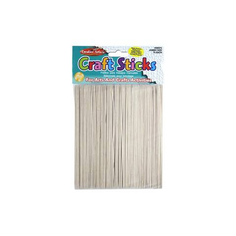 66575 creative arts craft sticks 6 75pc natural