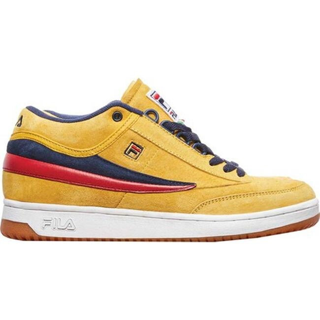 Fila Men's T1-Mid Lemon Chrome/Fila Navy/Fila Red