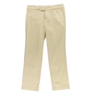 Catherine Malandrino Womens Twill Stretch Cropped Pants - 4