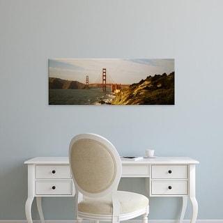 Easy Art Prints Panoramic Images's 'Bridge over a bay, Golden Gate Bridge, San Francisco, California, USA' Canvas Art