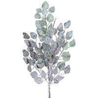 """25.5"""" Pack of 12 Winter Frost Artificallly Frosted Christmas Eucalyptus Spray"""