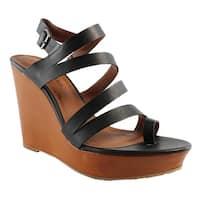 Lucky Brand Womens Lk-Fairfina Black Slides Size 10