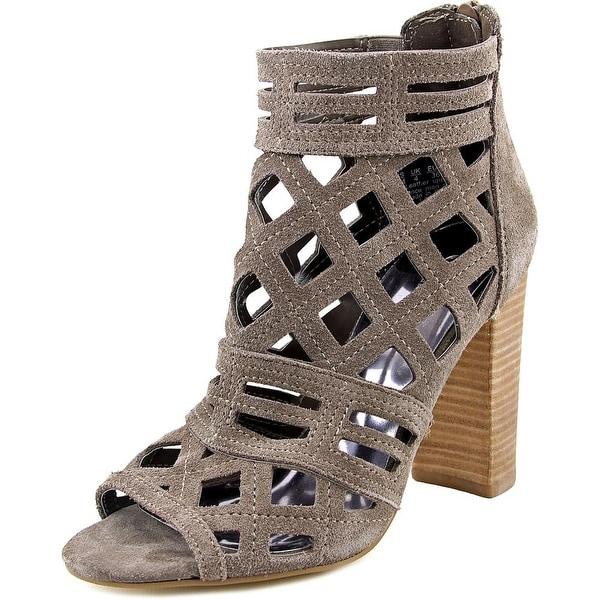 Carlos by Carlos Santana Lola Women Open-Toe Suede Gray Ankle Boot
