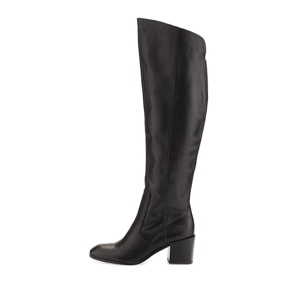 Pour La Victoire Womens Felicia Leather Closed Toe Knee High Fashion Boots - 8