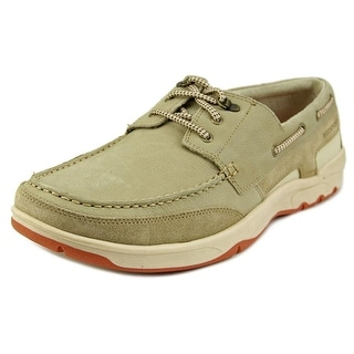 Rockport Cshorebound 3-Eye Moc Toe Leather Boat Shoe