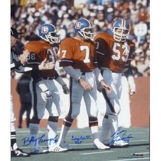 Denver Broncos Captains Autographed 16x20 Photo Morton Gradishar Thompson