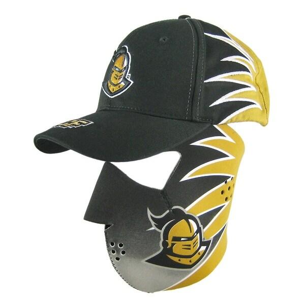 46d5a80c57a Shop UCF Knights Neoprene Facemask   Ball Cap Set Biker - Black ...