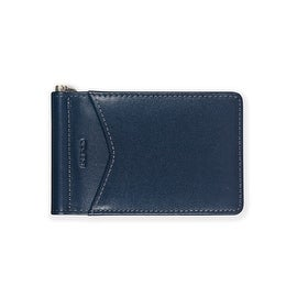 Ikepod Mens Moeny Clip (Blue of 3 Color) [ Italy Leather// Front Pocket Size ] (Option: Blue)