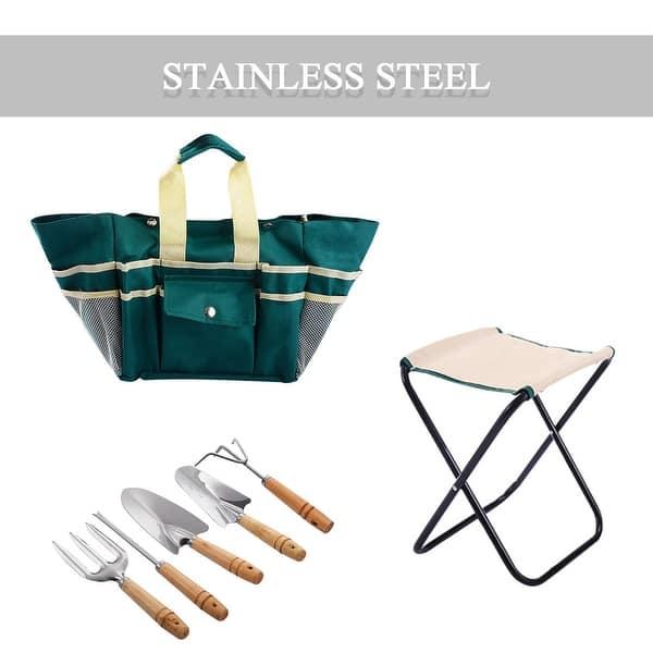 Superb Shop Costway 7Pc Stainless Steel Garden Tool Bag Set Folding Uwap Interior Chair Design Uwaporg