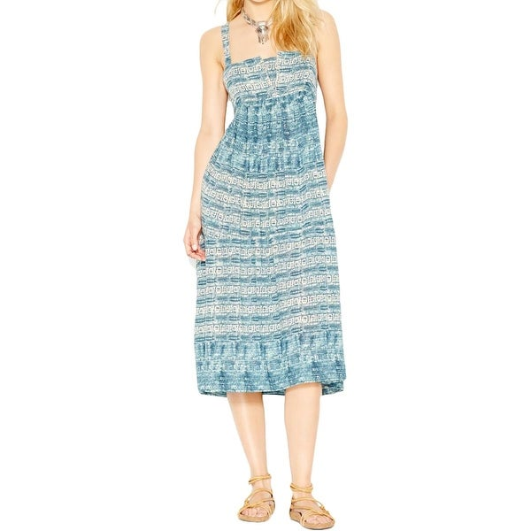 Free People Womens Casual Dress Printed Sleeveless