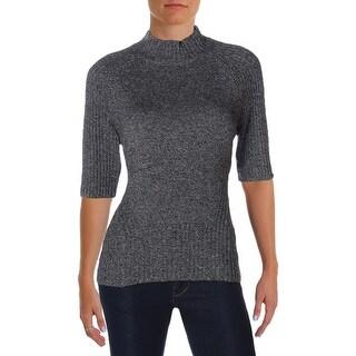 Kobi Halperin Womens Macie Mock Turtleneck Sweater Mock Turtleneck Elbow Sleeves