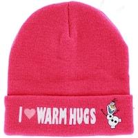 Disney Frozen I Love Warm Hugs Olaf Pink Cuffed Knit Hat
